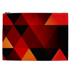 Abstract Triangle Wallpaper Cosmetic Bag (xxl)  by BangZart