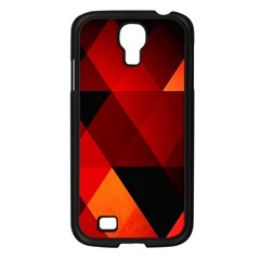 Abstract Triangle Wallpaper Samsung Galaxy S4 I9500/ I9505 Case (black) by BangZart