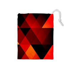 Abstract Triangle Wallpaper Drawstring Pouches (medium)