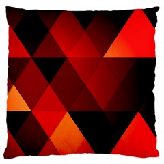 Abstract Triangle Wallpaper Standard Flano Cushion Case (one Side) by BangZart