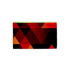 Abstract Triangle Wallpaper Cosmetic Bag (xs) by BangZart