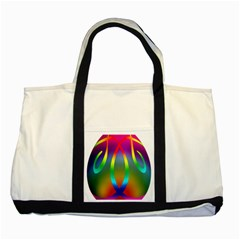 Colorful Easter Egg Two Tone Tote Bag by BangZart