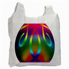 Colorful Easter Egg Recycle Bag (two Side)  by BangZart
