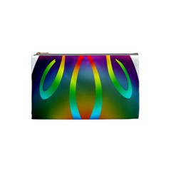 Colorful Easter Egg Cosmetic Bag (small)  by BangZart