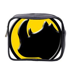 Black Rhino Logo Mini Toiletries Bag 2 Side by BangZart