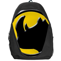 Black Rhino Logo Backpack Bag by BangZart