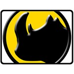 Black Rhino Logo Double Sided Fleece Blanket (Large)  80 x60 Blanket Back