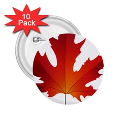 Autumn Maple Leaf Clip Art 2 25  Buttons (10 Pack)  by BangZart