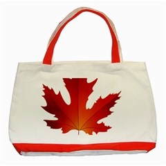 Autumn Maple Leaf Clip Art Classic Tote Bag (red) by BangZart