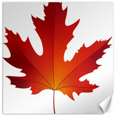Autumn Maple Leaf Clip Art Canvas 16  X 16   by BangZart