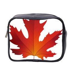 Autumn Maple Leaf Clip Art Mini Toiletries Bag 2 Side