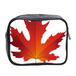 Autumn Maple Leaf Clip Art Mini Toiletries Bag 2-Side Back