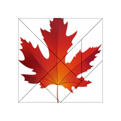 Autumn Maple Leaf Clip Art Acrylic Tangram Puzzle (4  X 4 ) by BangZart