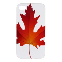 Autumn Maple Leaf Clip Art Apple Iphone 4/4s Premium Hardshell Case by BangZart