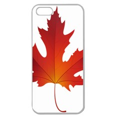 Autumn Maple Leaf Clip Art Apple Seamless Iphone 5 Case (clear) by BangZart