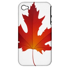 Autumn Maple Leaf Clip Art Apple Iphone 4/4s Hardshell Case (pc+silicone) by BangZart