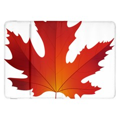 Autumn Maple Leaf Clip Art Samsung Galaxy Tab 8 9  P7300 Flip Case by BangZart