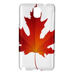 Autumn Maple Leaf Clip Art Samsung Galaxy Note 3 N9005 Hardshell Case by BangZart