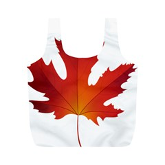 Autumn Maple Leaf Clip Art Full Print Recycle Bags (m)  by BangZart