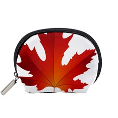 Autumn Maple Leaf Clip Art Accessory Pouches (small)  by BangZart