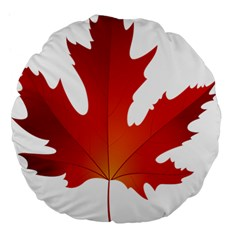 Autumn Maple Leaf Clip Art Large 18  Premium Flano Round Cushions by BangZart