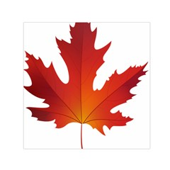 Autumn Maple Leaf Clip Art Small Satin Scarf (square) by BangZart