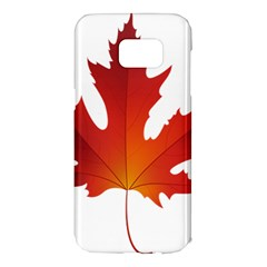 Autumn Maple Leaf Clip Art Samsung Galaxy S7 Edge Hardshell Case by BangZart