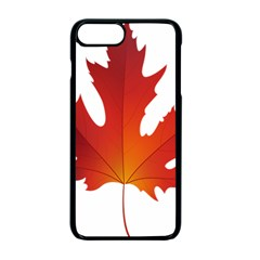 Autumn Maple Leaf Clip Art Apple Iphone 7 Plus Seamless Case (black) by BangZart