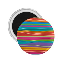 Colorful Horizontal Lines Background 2 25  Magnets by TastefulDesigns