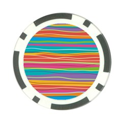 Colorful Horizontal Lines Background Poker Chip Card Guard by TastefulDesigns