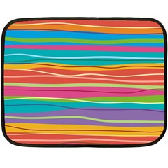 Colorful Horizontal Lines Background Double Sided Fleece Blanket (mini)  by TastefulDesigns