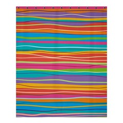 Colorful Horizontal Lines Background Shower Curtain 60  X 72  (medium)  by TastefulDesigns