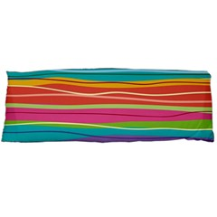 Colorful Horizontal Lines Background Body Pillow Case (dakimakura) by TastefulDesigns