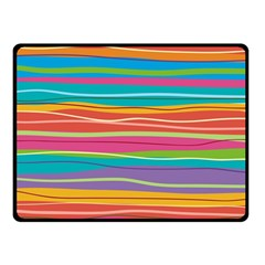 Colorful Horizontal Lines Background Double Sided Fleece Blanket (small)  by TastefulDesigns