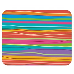 Colorful Horizontal Lines Background Double Sided Flano Blanket (medium)  by TastefulDesigns