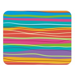 Colorful Horizontal Lines Background Double Sided Flano Blanket (large)  by TastefulDesigns