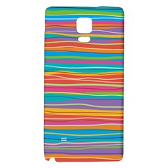 Colorful Horizontal Lines Background Galaxy Note 4 Back Case by TastefulDesigns