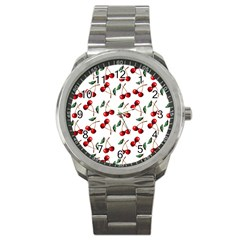 Cherry Red Sport Metal Watch by Kathrinlegg