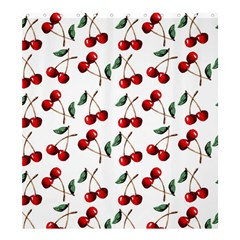 Cherry Red Shower Curtain 66  X 72  (large)  by Kathrinlegg