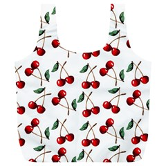 Cherry Red Full Print Recycle Bags (l)  by Kathrinlegg