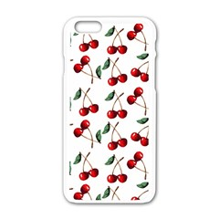 Cherry Red Apple Iphone 6/6s White Enamel Case by Kathrinlegg