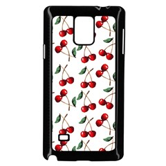 Cherry Red Samsung Galaxy Note 4 Case (black) by Kathrinlegg