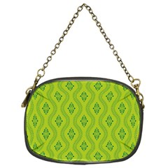 Decorative Green Pattern Background  Chain Purses (one Side)  by TastefulDesigns