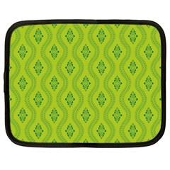 Decorative Green Pattern Background  Netbook Case (xxl)  by TastefulDesigns