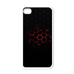 Abstract Pattern Honeycomb Apple Iphone 4 Case (white) by BangZart