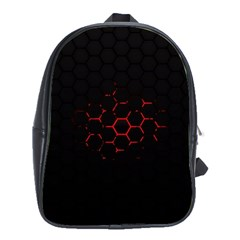 Abstract Pattern Honeycomb School Bags (xl)  by BangZart