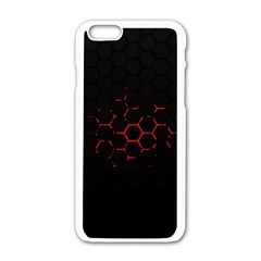 Abstract Pattern Honeycomb Apple Iphone 6/6s White Enamel Case