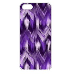 Purple Wavy Apple Iphone 5 Seamless Case (white) by KirstenStar