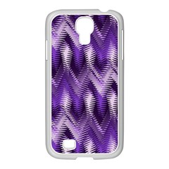 Purple Wavy Samsung Galaxy S4 I9500/ I9505 Case (white) by KirstenStar