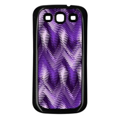 Purple Wavy Samsung Galaxy S3 Back Case (black) by KirstenStar
